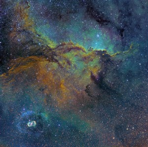 Fighting Dragons of Ara (NGC 6188 and 6164) by Michael Sidonio (Australia)