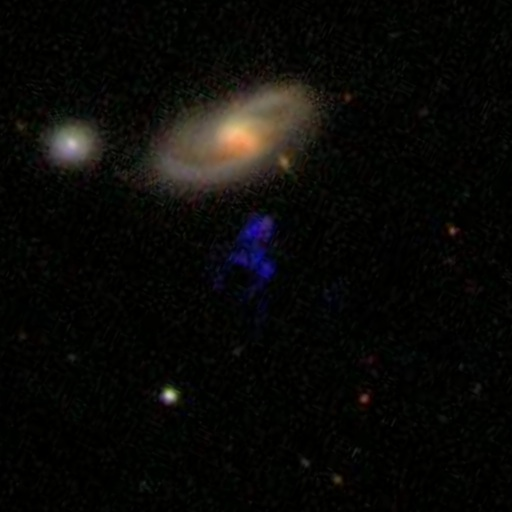Hanny's Voorwerp (Hanny's object) imaged by SDSS